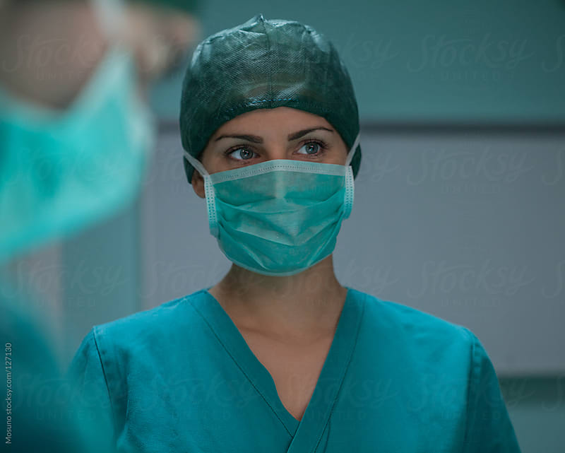 Portrait of a Female Surgeon in the OR by Mosuno for Stocksy United