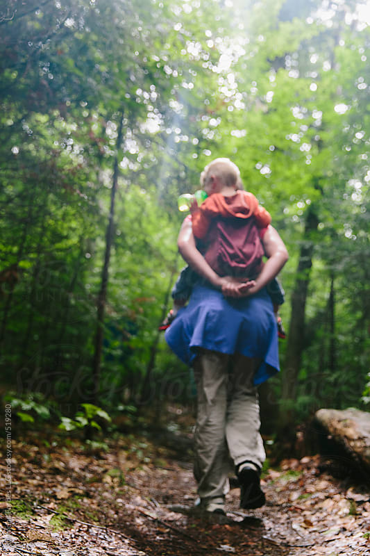 Mother and Son on Hike  by Raymond Forbes LLC for Stocksy United