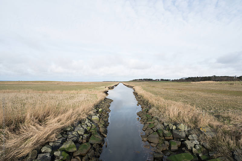Canal on island Foehr by Urs Siedentop & Co for Stocksy United