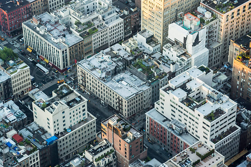 Crowded highrise buildings in Manhattan, viewed from above by yuko hirao for Stocksy United