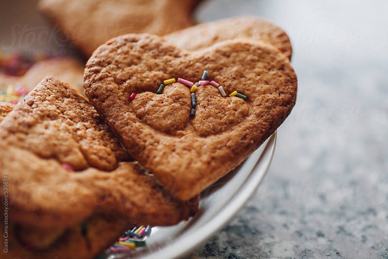 Heart shaped cookies by Giada Canu for Stocksy United