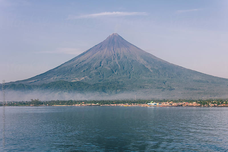 Volcano mount Mayon, Philippines by Alejandro Moreno de Carlos for Stocksy United
