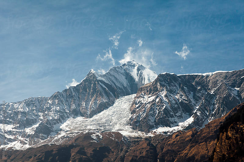 Mt. Dhaulagiri standing tall in the himalayas. by Shikhar Bhattarai for Stocksy United