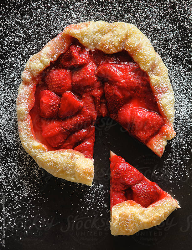 Strawberry galette by Pixel Stories for Stocksy United