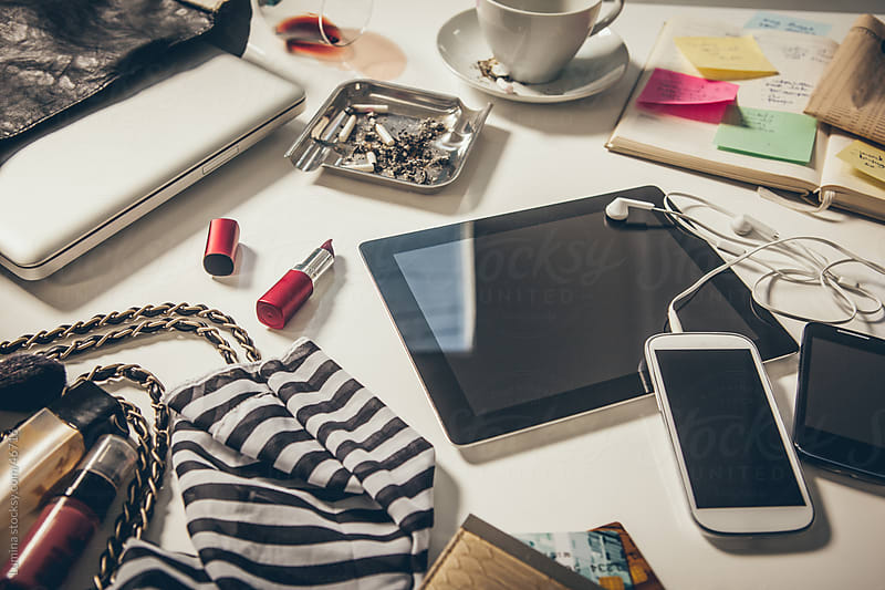 Messy Businesswoman's Desk by Lumina for Stocksy United