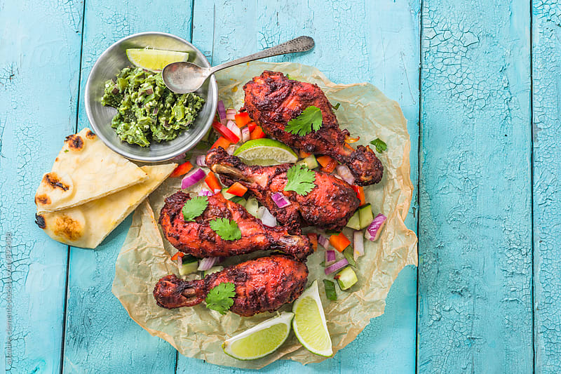 Indian Tandoori Chicken by suzanne clements for Stocksy United