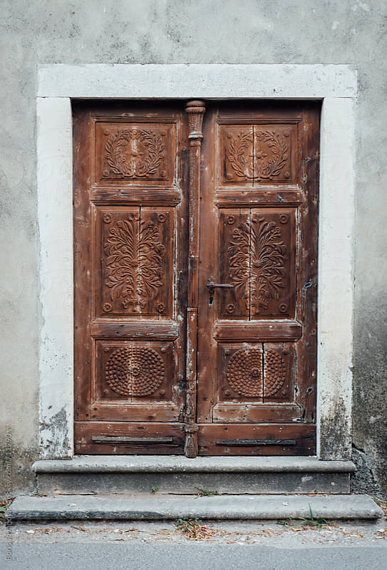 Old wooden doors by Boris Jovanovic for Stocksy United