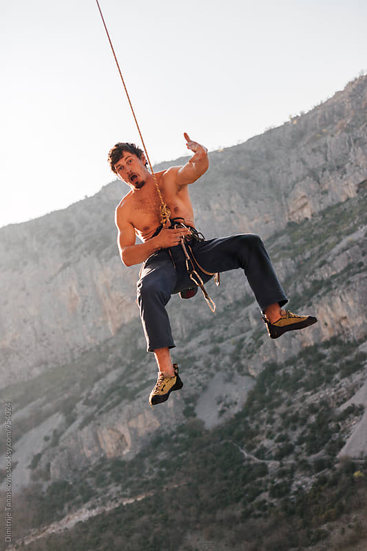 Rock climbing by Dimitrije Tanaskovic for Stocksy United
