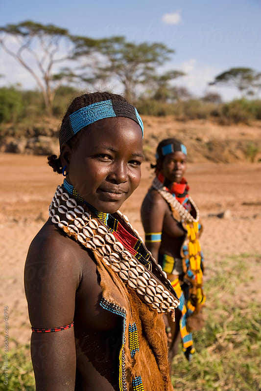 Portrait of women of the Hamer tribe, Lower Omo Valley, Southern Ethiopia, Africa by Gavin Hellier for Stocksy United
