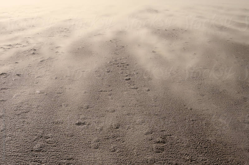 Sand Blown by the Wind Over a UK Beach by Will Clarkson for Stocksy United