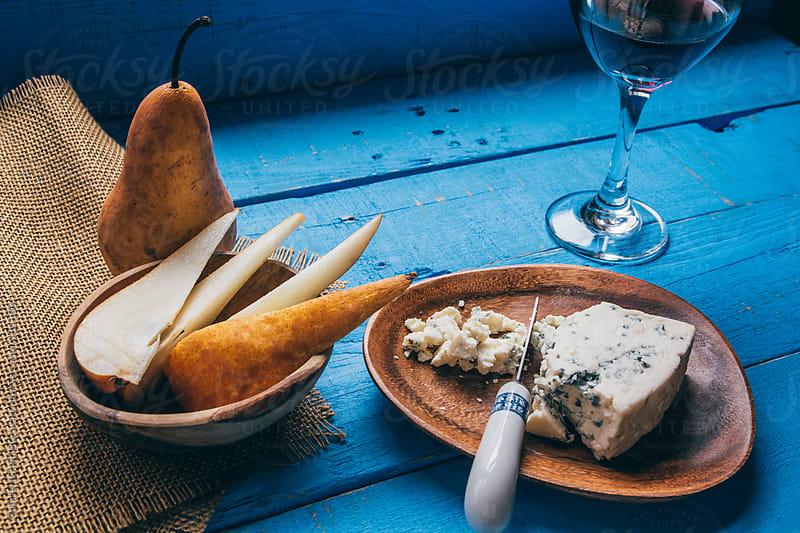 Pear Cheese and Wine by Gabriel (Gabi) Bucataru for Stocksy United