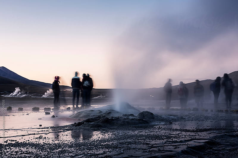 El Tatio, a geyser field located in the North of Chile.  by Mauro Grigollo for Stocksy United