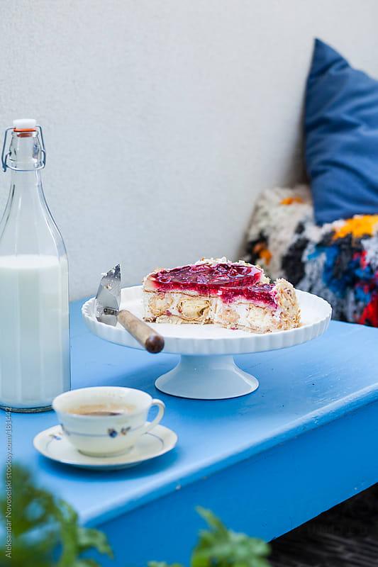Fruitcake and coffee by Aleksandar Novoselski for Stocksy United