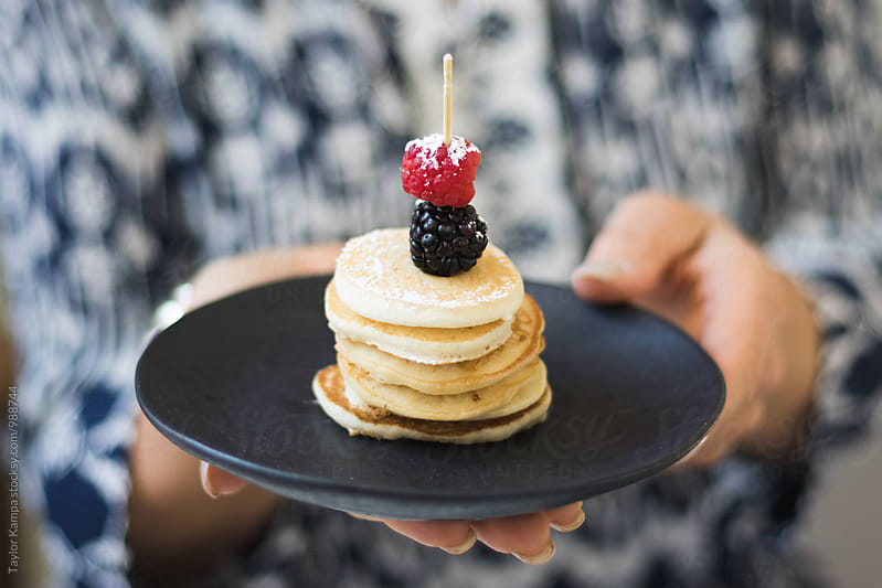 Mini Pancakes by Taylor Kampa for Stocksy United