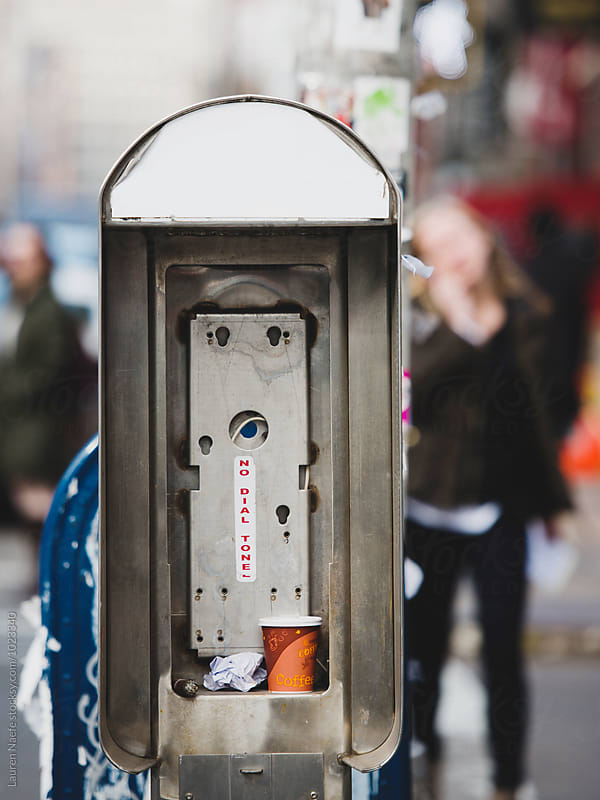 Pay phone by Lauren Naefe for Stocksy United