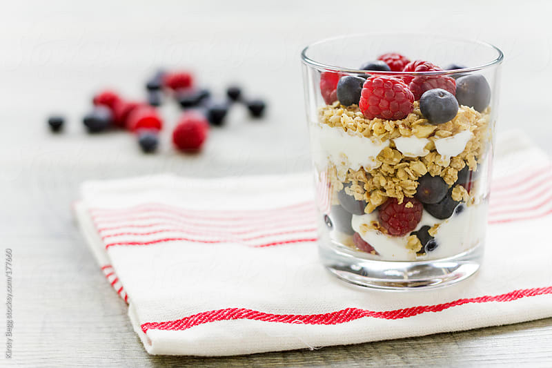 Single Granola parfait by Kirsty Begg for Stocksy United