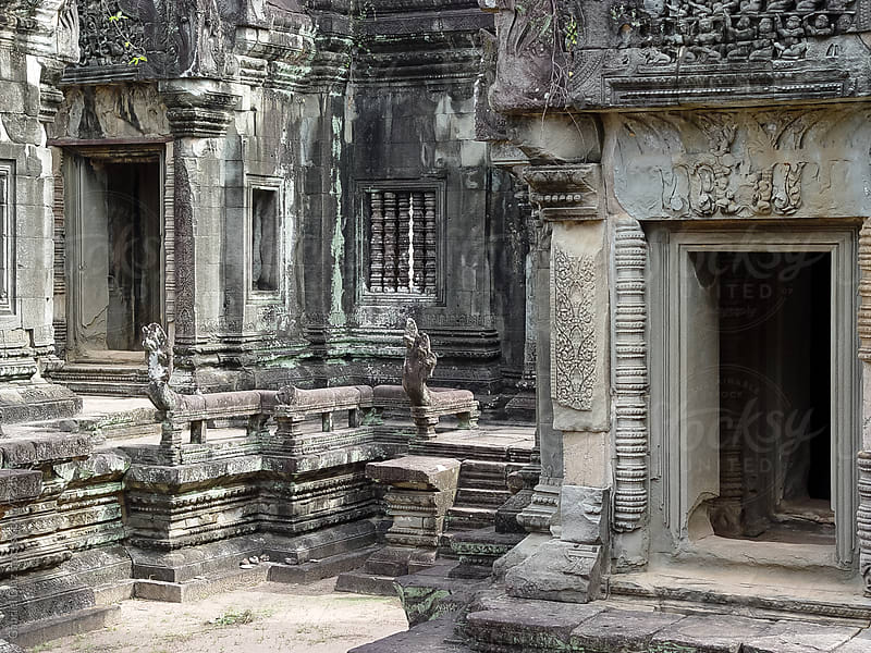 Carvings of Angkor Wat, Siemreap, Khmer Republic. by Gabriel Diaz for Stocksy United