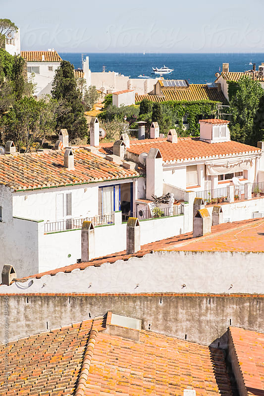 Above the roofs of Cadaques by Marilar Irastorza for Stocksy United