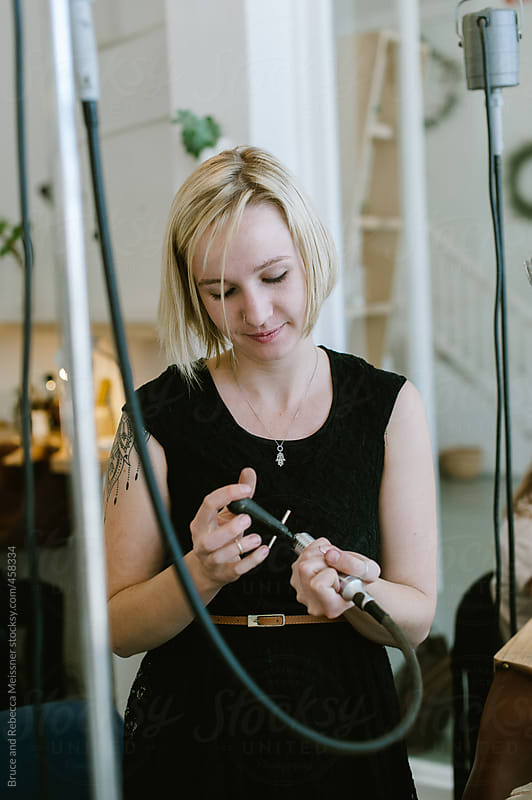 Making Jewellery by Bruce and Rebecca Meissner for Stocksy United