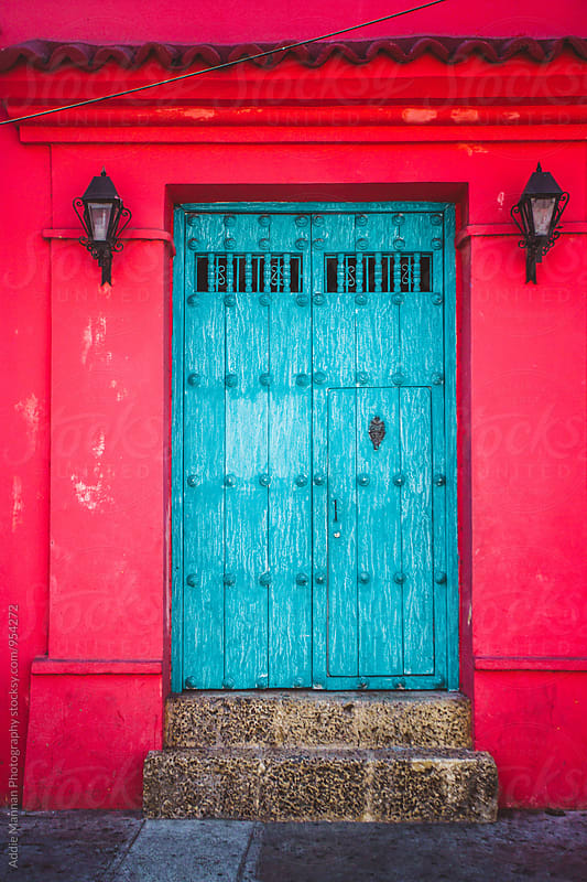 Blue door by Addie Mannan Photography for Stocksy United