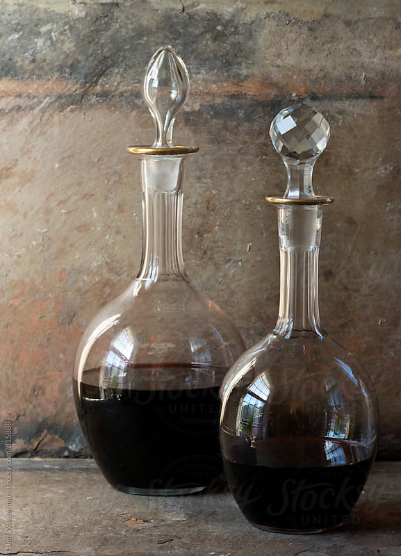 Decanters with Red Wine by Jeff Wasserman for Stocksy United
