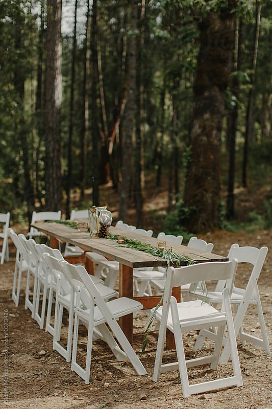 Styled Wedding Table by Sidney Morgan for Stocksy United