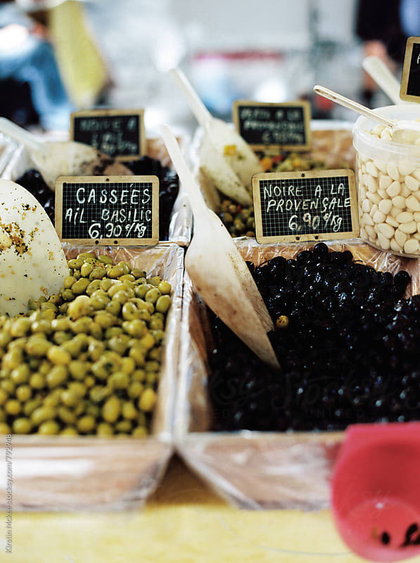 Olives in a market, France by Kirstin Mckee for Stocksy United