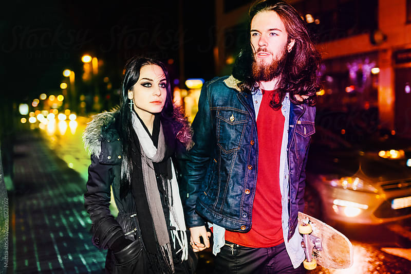 Young Couple Portrait in the City Traffic by Mattia Pelizzari for Stocksy United