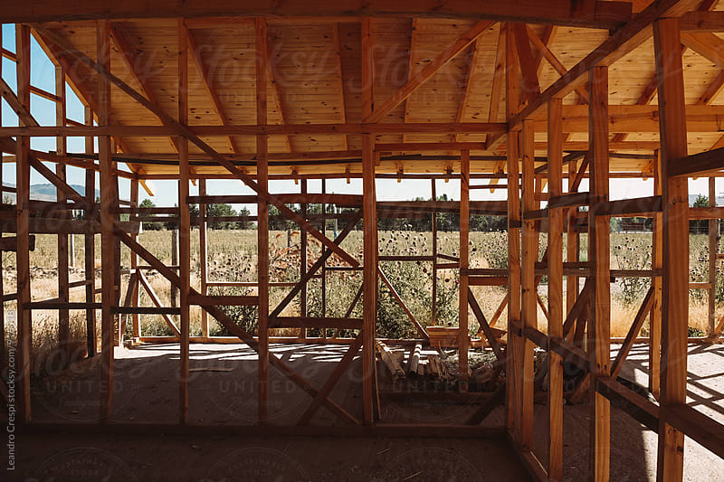 New house under construction on the outskirts of the city by Leandro Crespi for Stocksy United