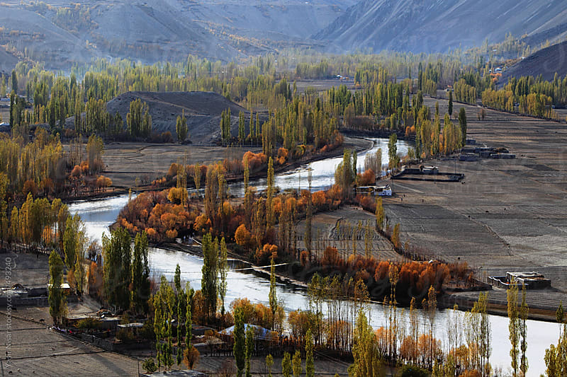 Autumnal View of Phandar Lake by Yasir Nisar for Stocksy United