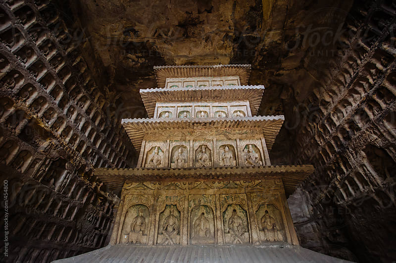 The Yungang Grottoes,Shanxi,China by zheng long for Stocksy United