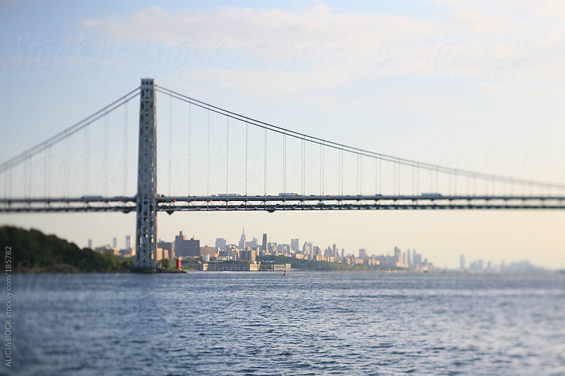 Verrazano–Narrows Bridge And New York City by ALICIA BOCK for Stocksy United