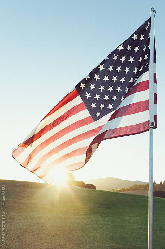 United States of America Flag by VISUALSPECTRUM for Stocksy United