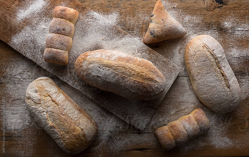 Loaves of Bread and Buns by Jeff Wasserman for Stocksy United