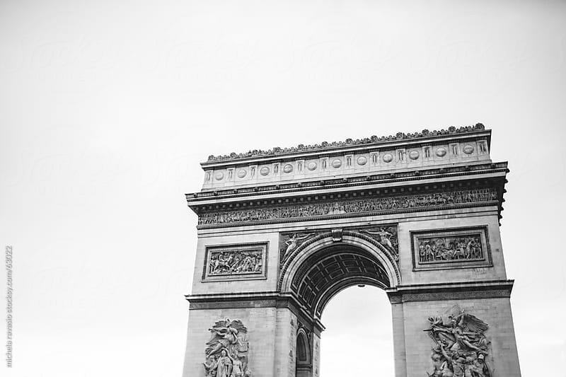 Arc de Triomphe, Paris by michela ravasio for Stocksy United