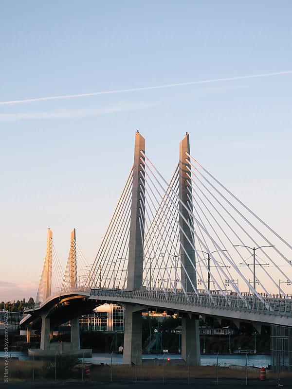 Pedestrian Bridge in Portland by B. Harvey for Stocksy United