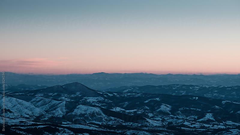 Mountain Landspace in the Winter Season by Branislav Jovanovic for Stocksy United