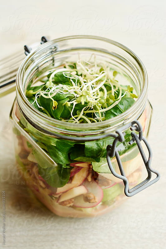 Waldorf Salad in a Jar by Harald Walker for Stocksy United