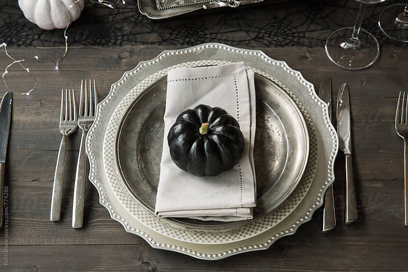 Halloween table setting by Ruth Black for Stocksy United