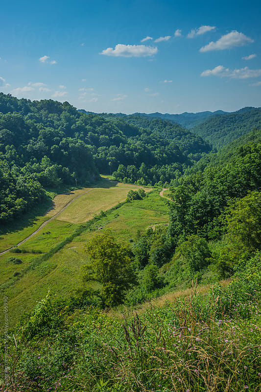 The Green Mountains of West Virginia by suzanne clements for Stocksy United