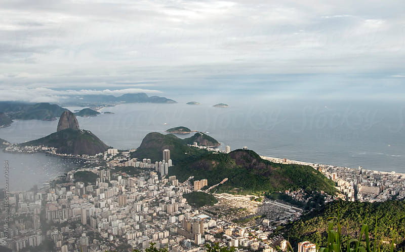 Landscape shot of Rio shot from above. by Mike Marlowe for Stocksy United