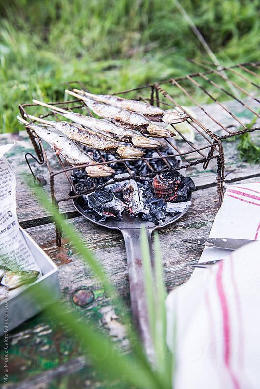 Barbecued sardines by Marta Muñoz-Calero Calderon for Stocksy United