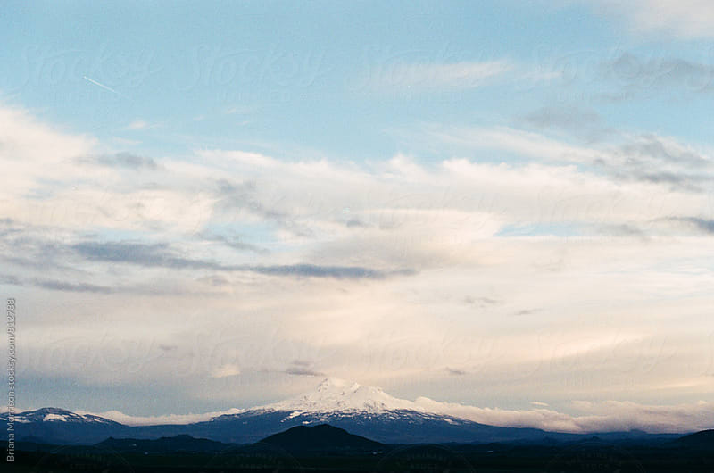 Mount Shasta California at Sunset from a Distance by Briana Morrison for Stocksy United