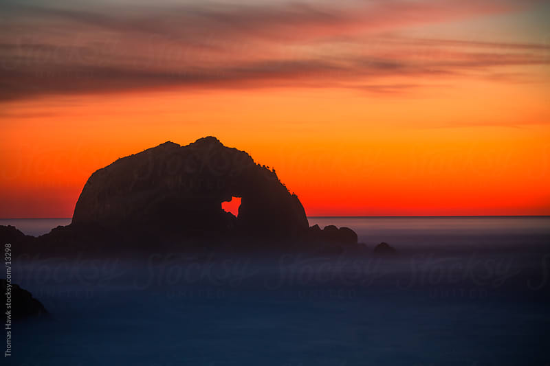 California Sunset with Natural Heart in Rock by Thomas Hawk for Stocksy United