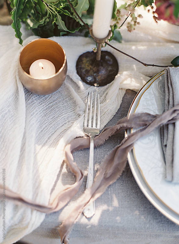 Dinner Place Setting  by Vicki Grafton Photography for Stocksy United