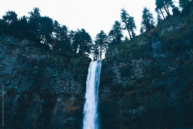 The top of Multnomah falls by Jesse Morrow for Stocksy United