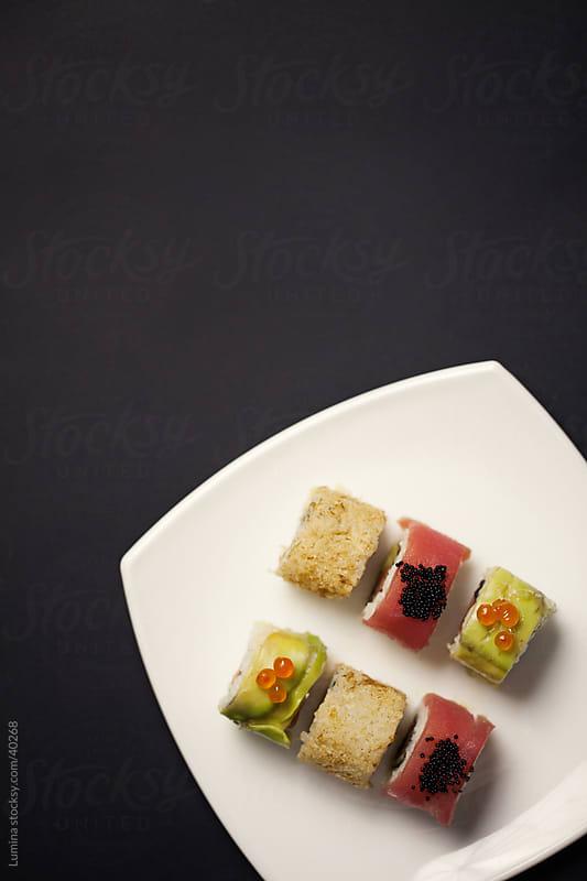 Spring Sushi Rolls by Lumina for Stocksy United