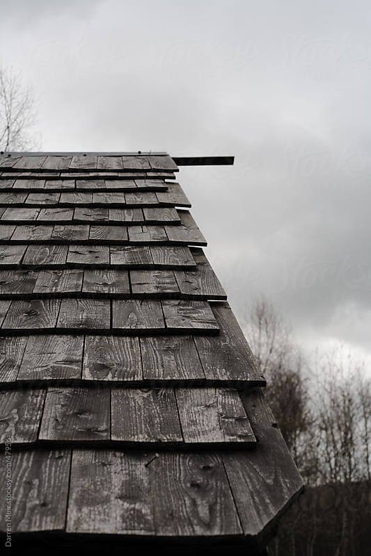 Wood Tiles on roof. by Darren Muir for Stocksy United