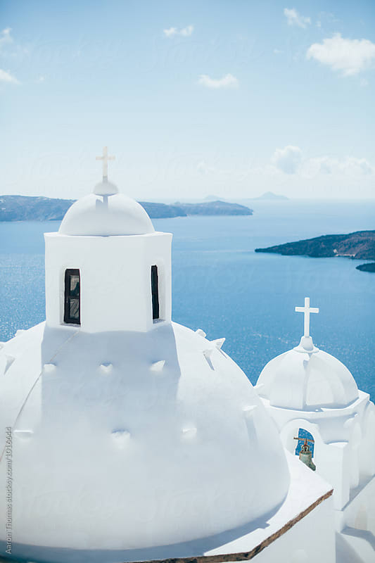 Cathedral overlooking Mediterranean by Aaron Thomas for Stocksy United