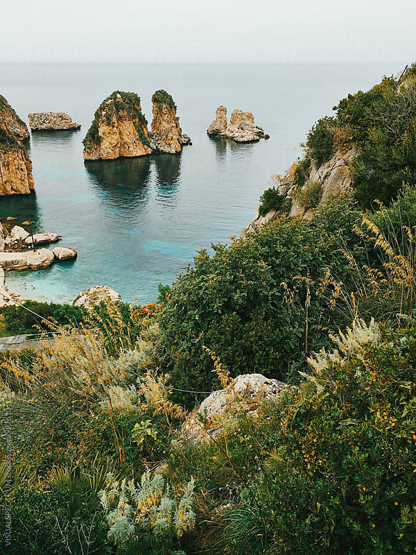 Italy - Dramatic Sicilian Coastline by VISUALSPECTRUM for Stocksy United